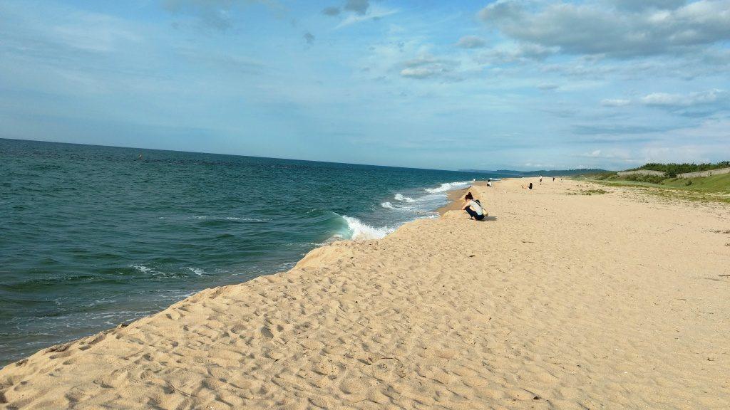 北条オートキャンプ場の海岸